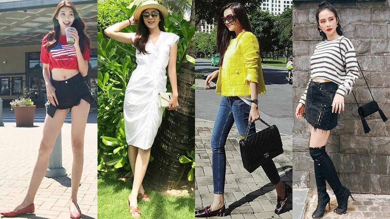 Thanh Hằng, Quỳnh Châu khoe chân thon dài với street style năng động, phóng khoáng