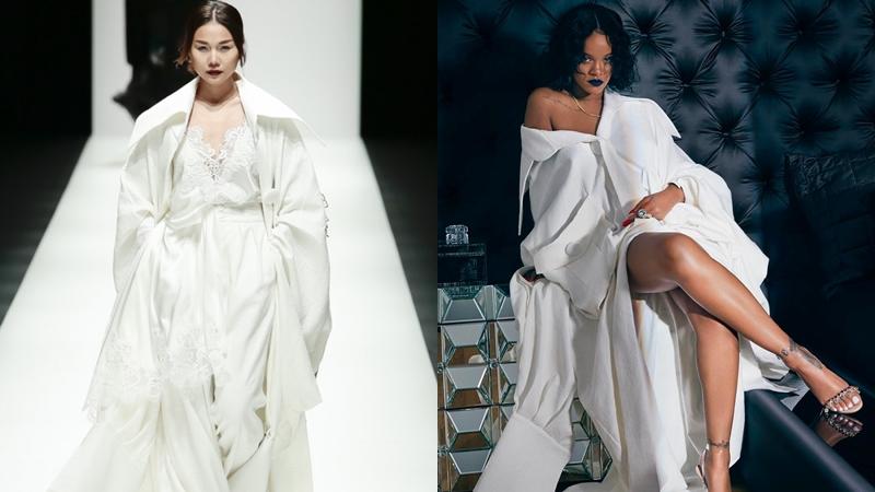 """Rihanna mặc trang phục """"EM HOA"""" của Công Trí quảng bá bộ sưu tập So Stoned"""