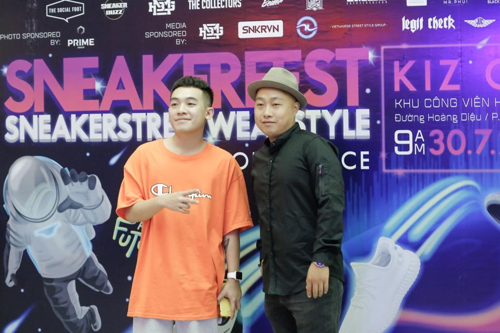 Phở và Quân Rapsoul - đại diện ban tổ chức của Sneaker Fest