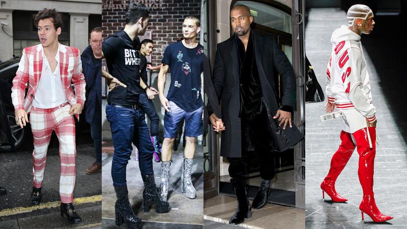 Sự trở lại của giày… cao gót nam