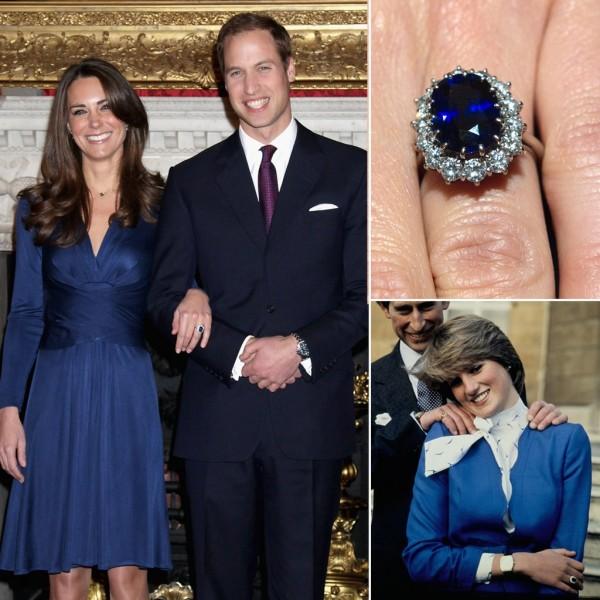Sau khi bí mật đính hôn, công nương Diana và thái tử Charles đã chọn chiếc nhẫn này ở công ty chuyên sản xuất trang sức hoàng gia Garrard vào tháng 2 năm 1981. Chiếc nhẫn vàng 18 carat có 14 viên kim cương được xếp bao quanh viên đá xanh lục hình oval 12 carat.