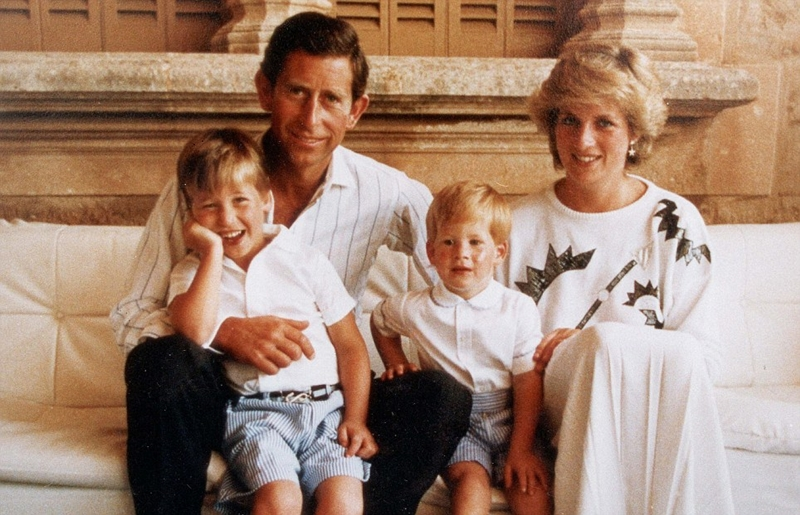 """dd The words on this year's royal greetings card say, """"a very Happy Christmas"""" but the picture says anything but. Prince William and brother Harry stare out without a smile between them. Of the Prince and Princess of Wales there is not a sign. It is a poignant illustration of how far apart the couple have moved. For the first time since their marriage, Charles and Diana have broken the tradition of appearing together on their official Christmas card. Those happy family pictures of previous years have been replaced with an old Snowdon portrait of William and Harry, bearing expressions as flat as the photograph's sepia tones. At the end of a year which turned into one of the worst Charles and Diana have known, togetherness no longer figures highly, even at Christmas. It wasn't always like that."""