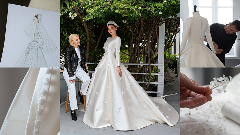 Hành trình mê hoặc tạo nên chiếc váy cưới Dior trong mơ của Miranda Kerr
