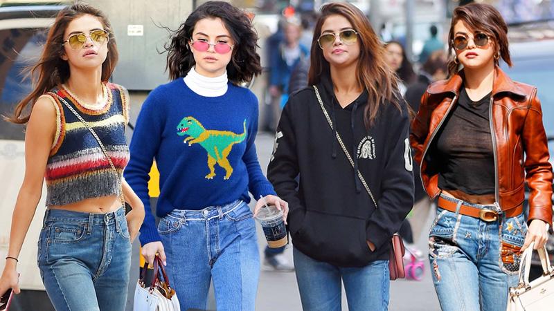 Tuyệt chiêu phối quần jeans cho ngày thu thêm ấn tượng như Selena Gomez