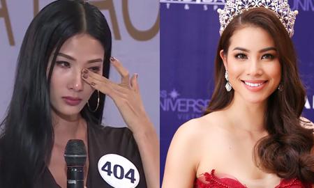 Tiếp tục đọc ca dao ở Hoa hậu Hoàn Vũ Việt Nam, Hoàng Thùy bật khóc khi bị Phạm Hương cho là lạm dụng
