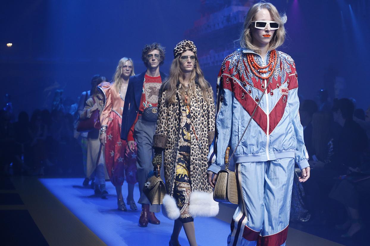 Gucci mở màn tuần lễ thời trang Milan với bộ sưu tập đa sắc màu
