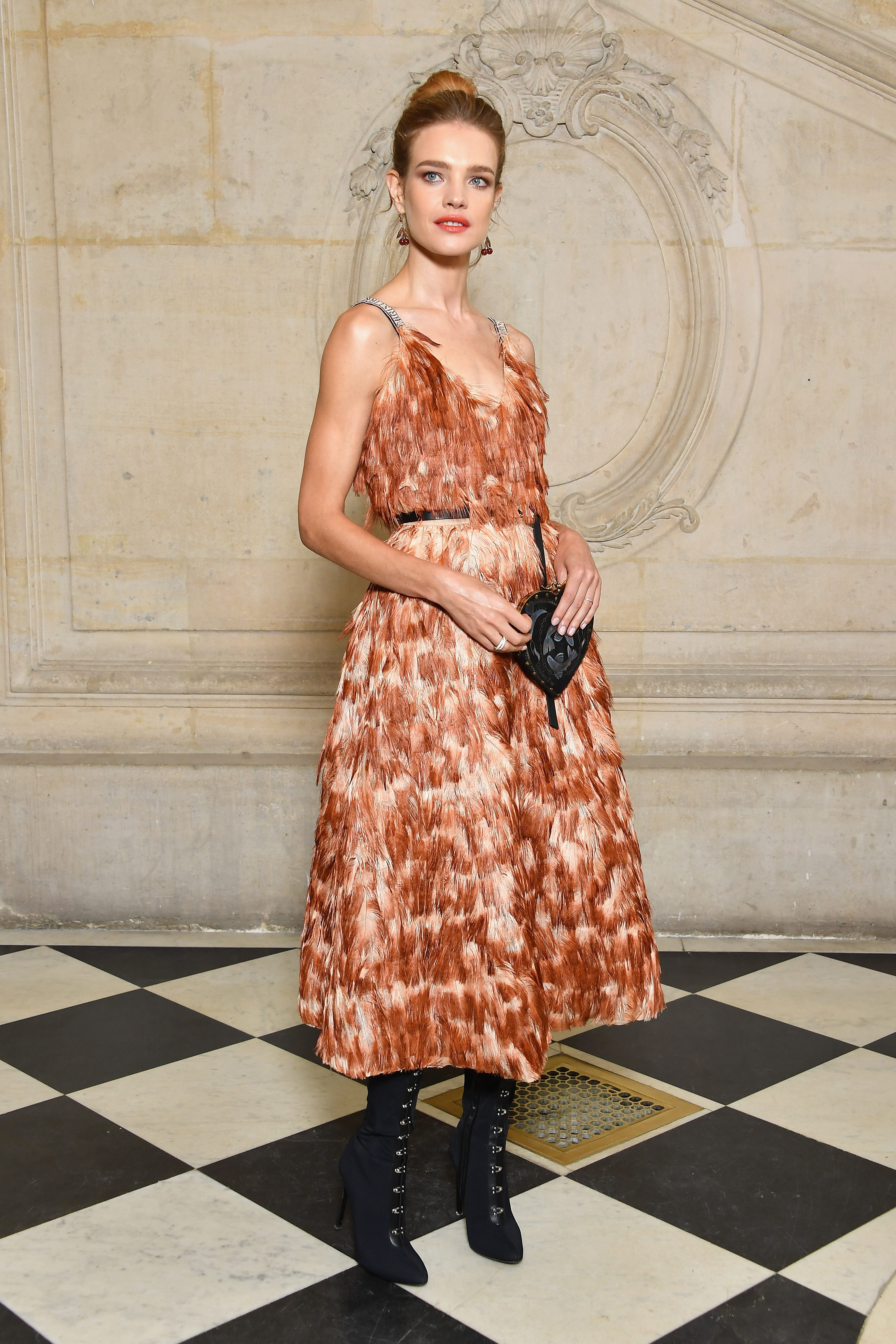 PARIS, FRANCE - SEPTEMBER 26: Natalia Vodianova attends the Christian Dior show as part of the Paris Fashion Week Womenswear Spring/Summer 2018 on September 26, 2017 in Paris, France. (Photo by Pascal Le Segretain/Getty Images for Dior) *** Local Caption *** Natalia Vodianova