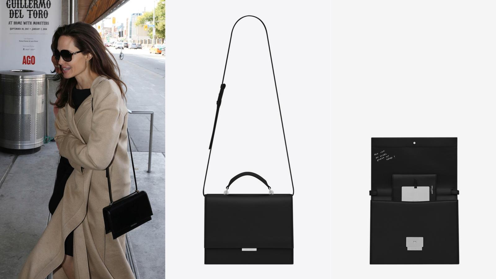 Angelina Jolie thanh lịch đậm chất Pháp với túi xách mới của Saint Laurent