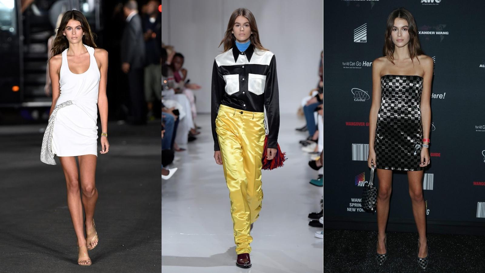 """Kaia Gerber """"gây bão"""" trên sàn catwalk Tuần lễ Thời trang New York"""