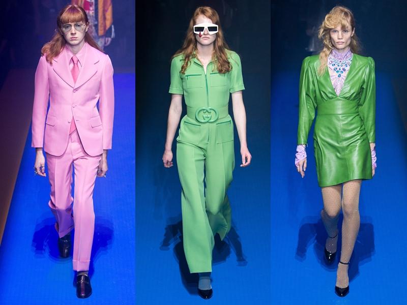 Những bộ trang phục đơn sắc (monochrome) cũng báo hiệu sự trở lại của xu hướng này.