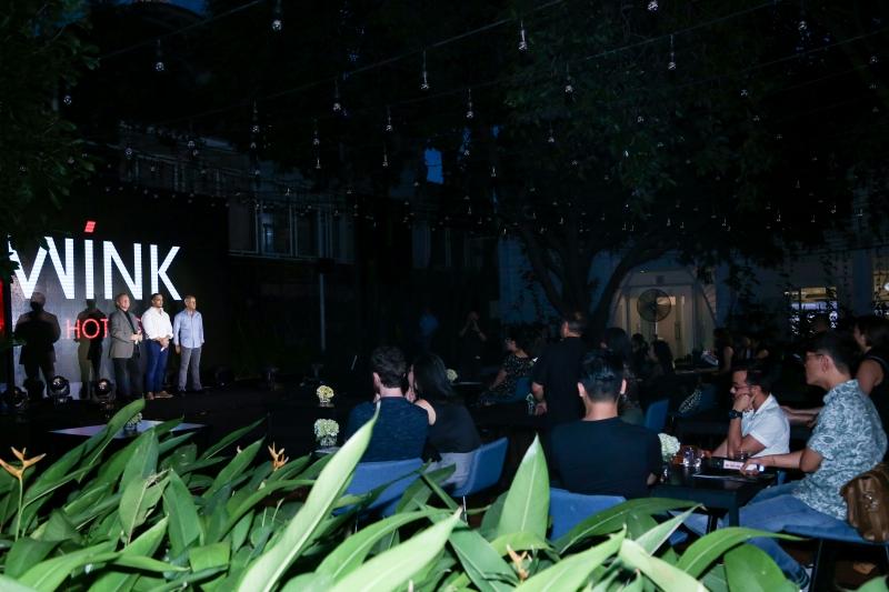 Không gian buổi họp báo công bố dự án khách sạn Wink của Indochina Vanguard Hotels, một công ty liên doanh giữa Indochina Capital Corporation và Vanguard Hotels.