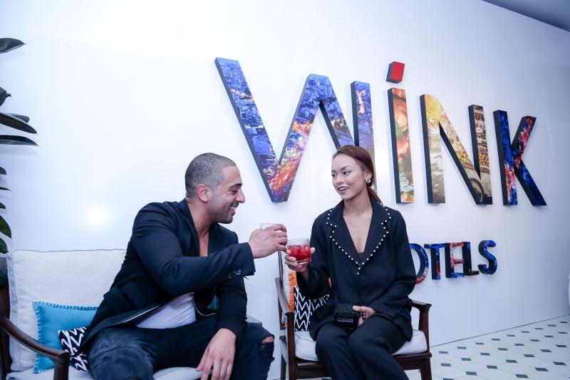 Mai Ngô và ông Michael Piro, đồng sáng lập Indochina Vanguard Hotels và Giám đốc điều hành của Indochina Land tại sự kiện ra mắt khách sạn Wink
