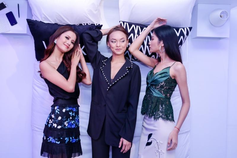 Từ trái qua:Hương Ly – quán quân Vietnam Next Top Model 2015, Mai Ngô và Kim Dung – quán quân Vietnam Next Top Model 2017.