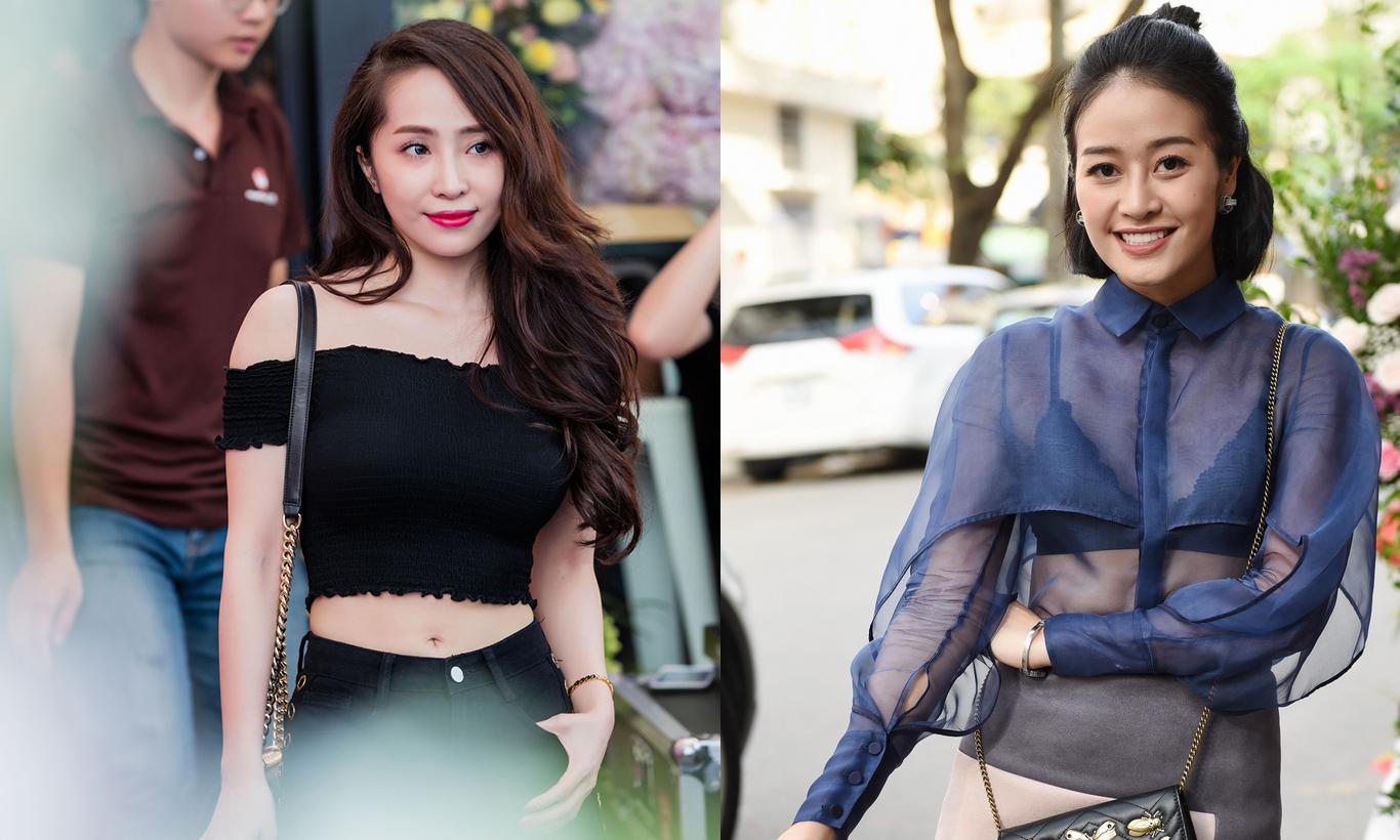 Quỳnh Nga ngắn ngủn, Phí Linh mỏng tang đến mừng ca sĩ Hà Anh