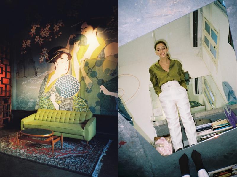 Chiếc áo sơ mi xanh lá trên chất liệu lụa óng ả được phối cùng quần cạp cao màu trắng là lựa chọn của Sofía cho mùa mới. Thanh lịch, hiện đại và mới mẻ, phong cách này là gợi ý không tồi cho phái đẹp ở bất kỳ nơi đâu trên thế giới.