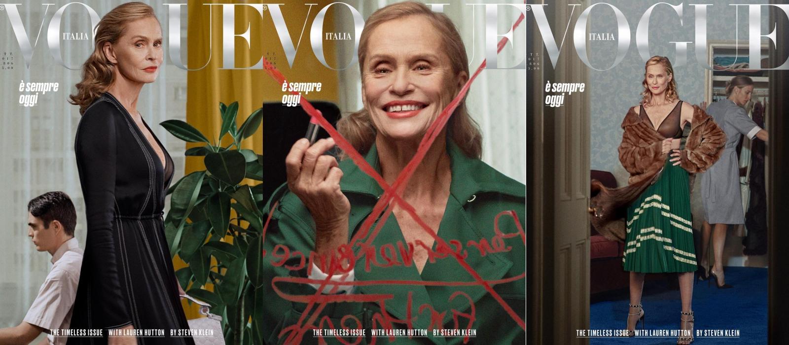 Lauren Hutton tỏa sáng trên bìa Vogue Ý ở tuổi 74 với vẻ quyến rũ vượt thời gian