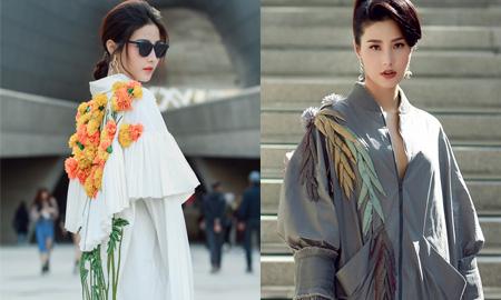 """Diễm My 9x diện váy Công Trí """"khuấy đảo"""" Seoul Fashion Week"""