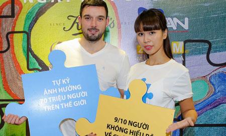 Siêu mẫu Hà Anh tham gia chiến dịch Autism Speaks giúp đỡ trẻ em tự kỷ