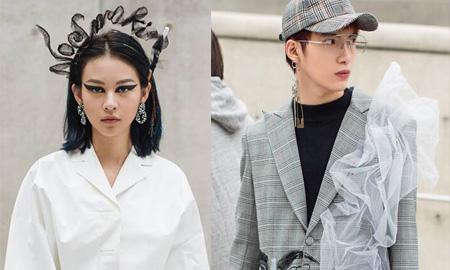 """Sau khi cùng xuất hiện trên Vogue và WMagazine, Phí Phương Anh """"đá xéo"""" Kye Nguyễn bằng trang phục tại Seoul Fashion Week"""