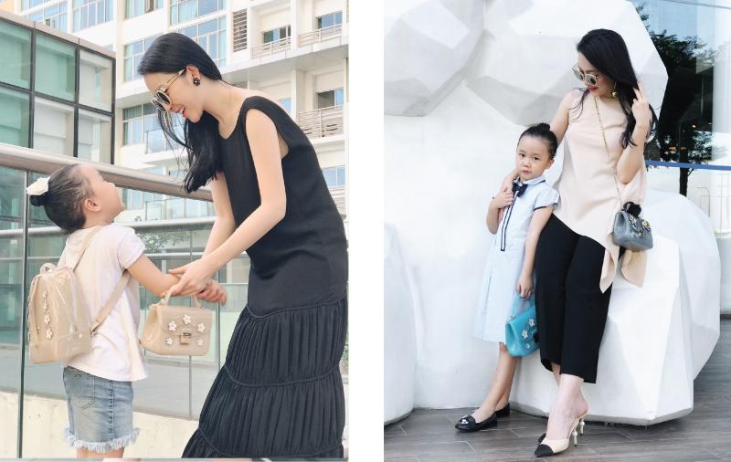 Kết hợp trang phục đồng điệu khéo léo như Linh Nga và bé Luna không quá khó, phải không?
