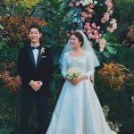 """Cận cảnh chiếc váy cưới Dior thắt đáy lưng ong của Song Hye Kyo trong """"hôn lễ thế kỷ"""""""