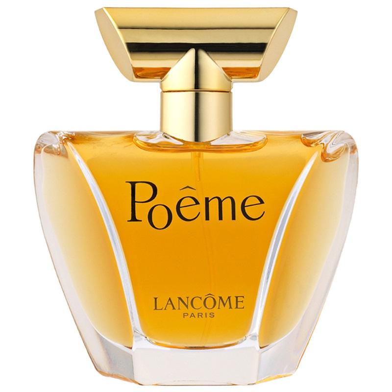 Lancome - Poême: nước hoa hương hoa cỏ có nốt hổ phách cùng các nốt hoa anh túc, quả mận, quả quýt hồng... Giá: 82$ cho 50ml (khoảng 1.895.000VND)