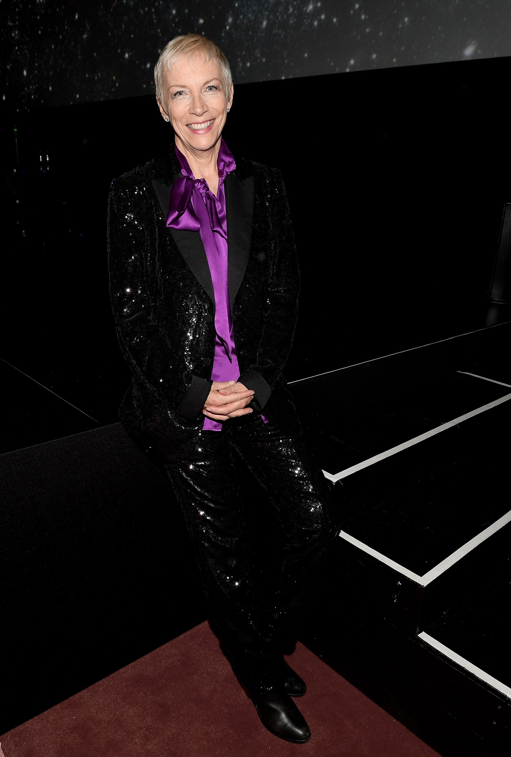 LOS ANGELES, CA - NOVEMBER 04: Musician Annie Lennox, wearing Gucci, attends the 2017 LACMA Art + Film Gala Honoring Mark Bradford and George Lucas presented by Gucci at LACMA on November 4, 2017 in Los Angeles, California. (Photo by Matt Winkelmeyer/Getty Images for LACMA)