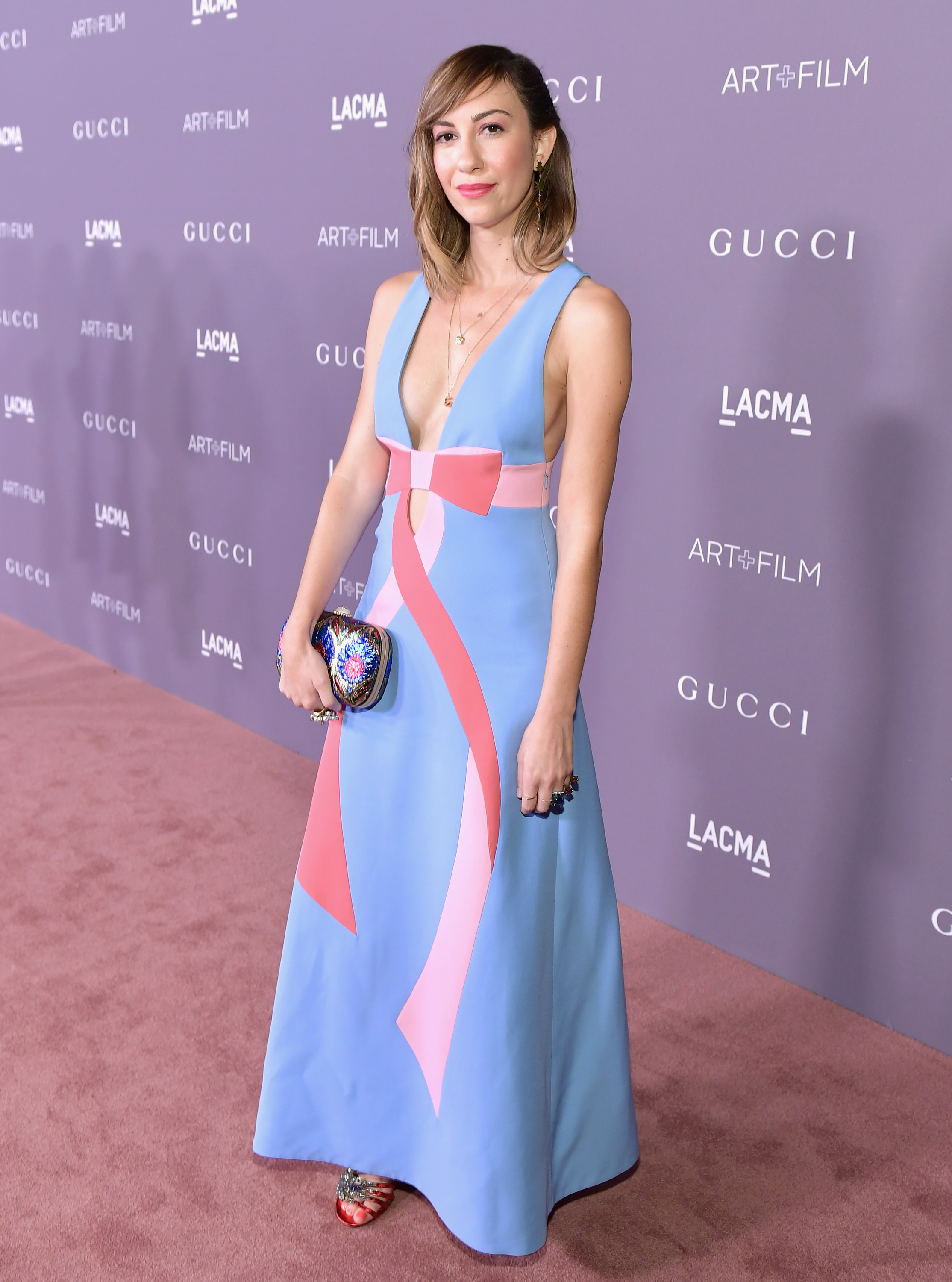 LOS ANGELES, CA - NOVEMBER 04: Director Gia Coppola, wearing Gucci, attends the 2017 LACMA Art + Film Gala Honoring Mark Bradford and George Lucas presented by Gucci at LACMA on November 4, 2017 in Los Angeles, California. (Photo by Neilson Barnard/Getty Images for LACMA)