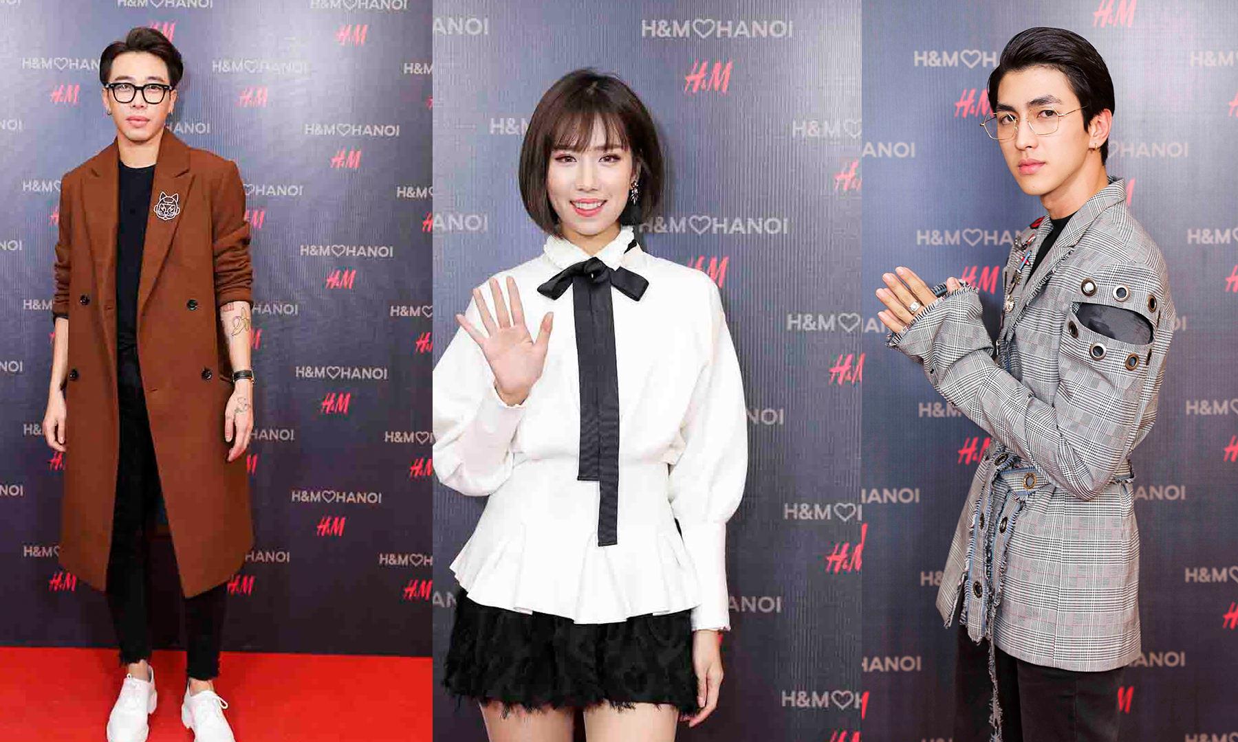 Min, Bình An, Hoàng Ku… mỗi người một vẻ tại sự kiện chào mừng của H&M tại thủ đô