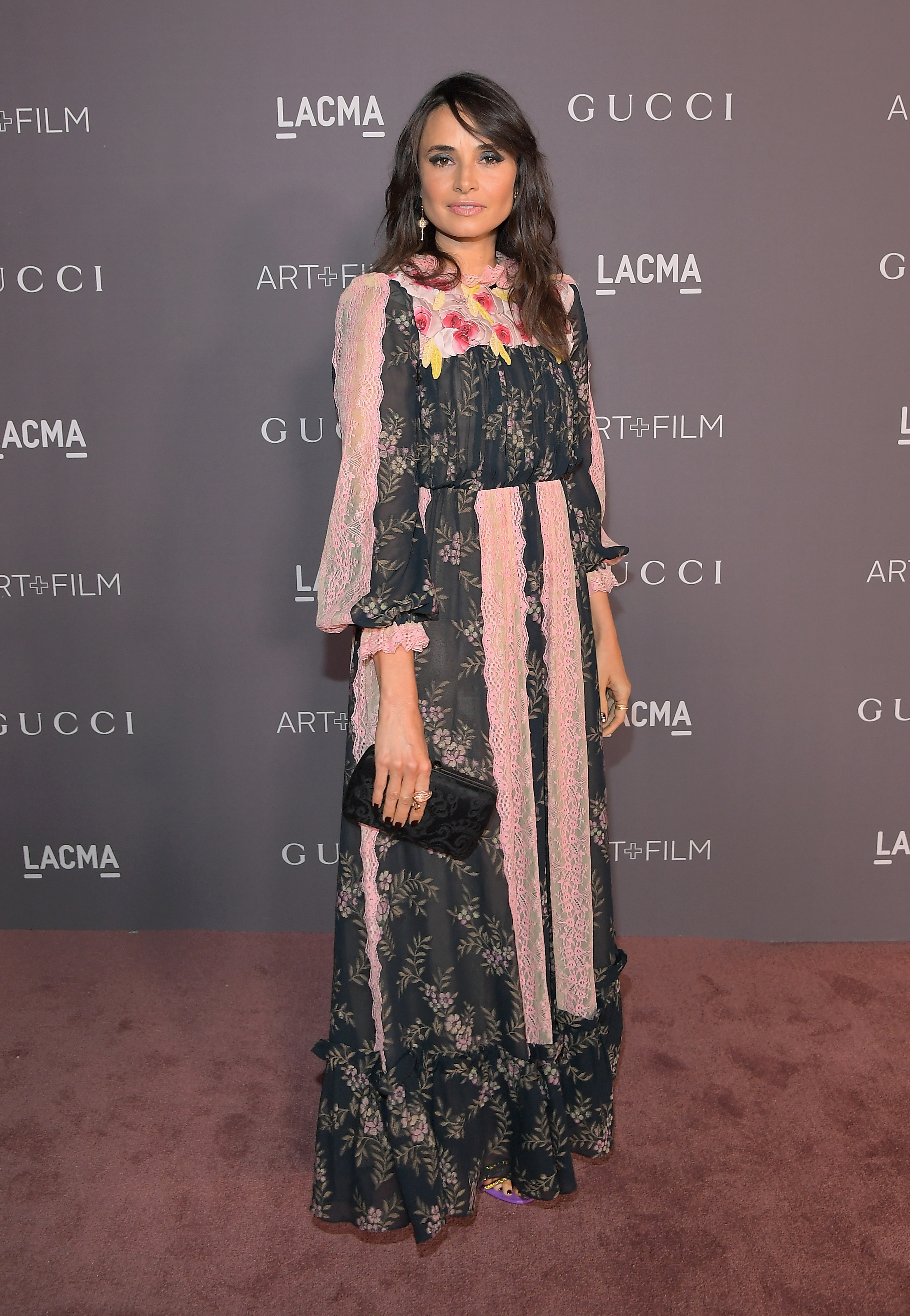 LOS ANGELES, CA - NOVEMBER 04: Actor Mia Maestro, wearing Gucci, attends the 2017 LACMA Art + Film Gala Honoring Mark Bradford and George Lucas presented by Gucci at LACMA on November 4, 2017 in Los Angeles, California. (Photo by Charley Gallay/Getty Images for LACMA)