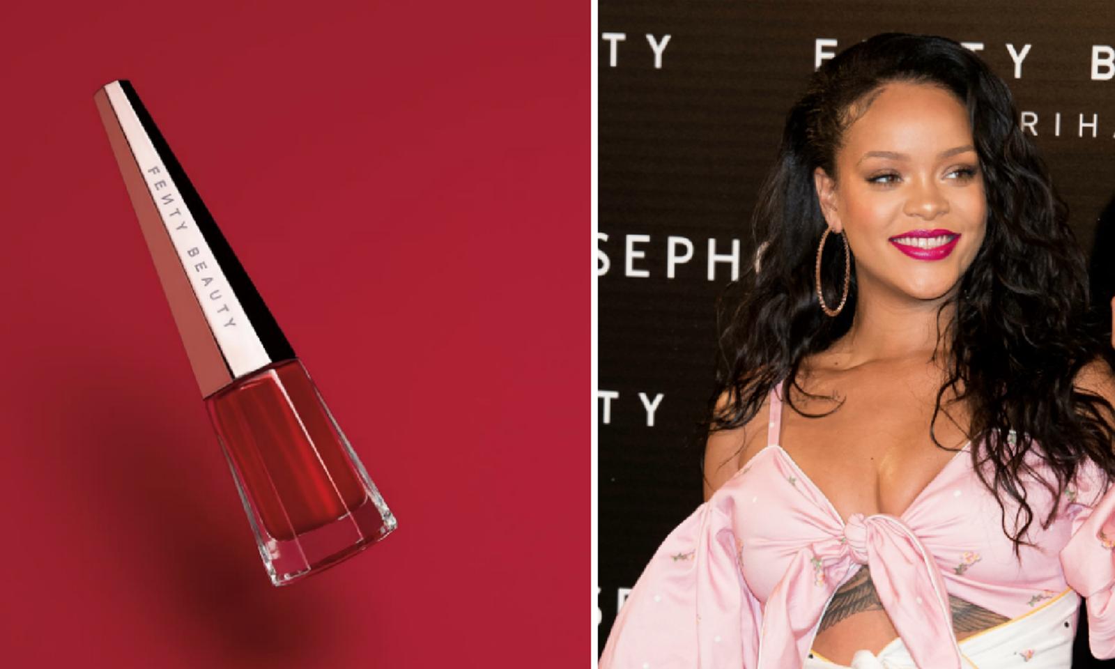 Rihanna hé lộ hình ảnh đầu tiên của Stunna, màu son đỏ tuyệt vời dành cho mọi tông da