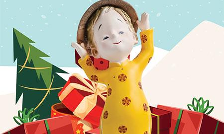 Lời chào Giáng sinh của cô em út Rose-chan Áo Dài tại Takashimaya