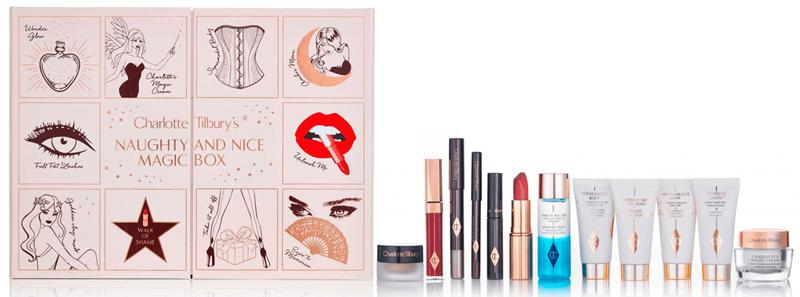 Charlote Tilburry - Naughty and Nice Magic Box: bộ sản phẩm quà tặng gồm son, phấn mắt, mascara và một số sản phẩm make - up khác. Giá: 150 Euro (khoảng 3.600.000VND)