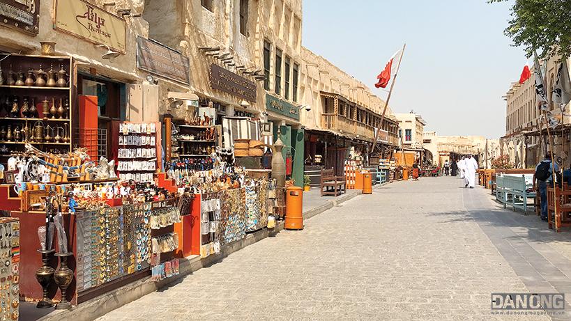 Một góc chợ truyền thống Souq Waqif