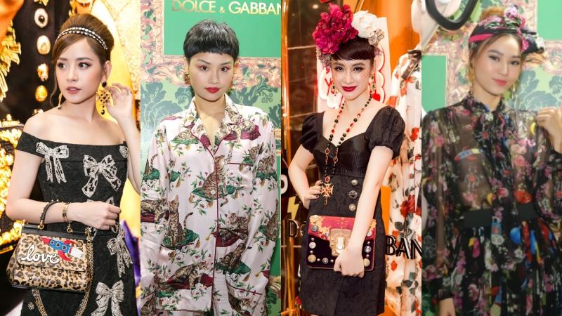 """Dàn mỹ nhân 9X tỏa hương sắc tại """"dạ tiệc hoàng gia"""" khai trương Dolce & Gabbana"""