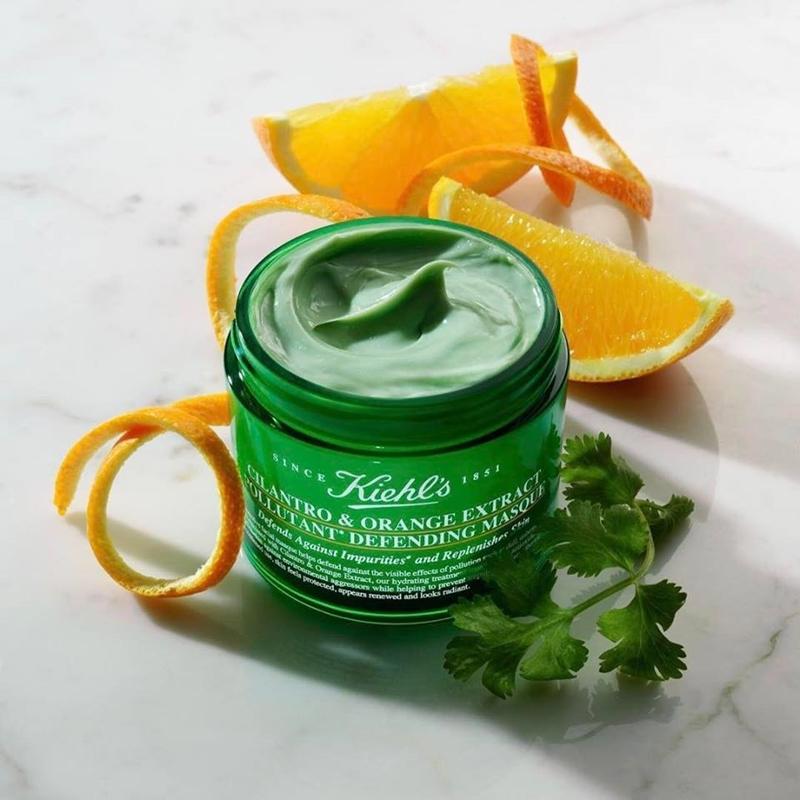 Kiehl's giới thiệu mặt nạ Cilantro & Orange Extract Pollutant Purifying Masque, loại mặt nạ chiết xuất từ các thành phần thiên nhiên giúp thải độc và cung cấp năng lượng cho làn da