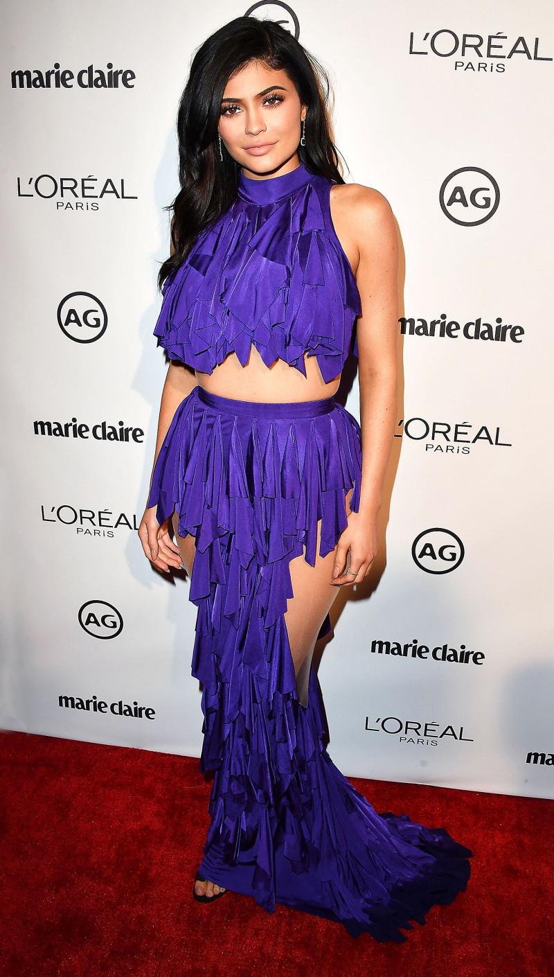 Các thiết kế Balmain dường như được giám đốc sáng tạo Olivier Rousteing tạo nên riêng cho Kylie Jenner.