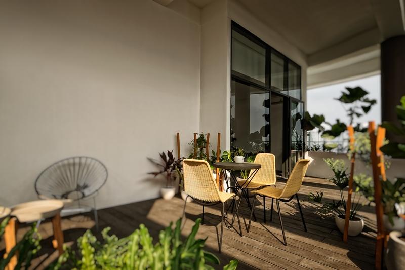 mỗi căn Penthouse sở hữu sân vườn hoặc hồ bơi riêng, làm tăng thêm giá trị cho 'ngôi biệt thự trên cao' lý tưởng
