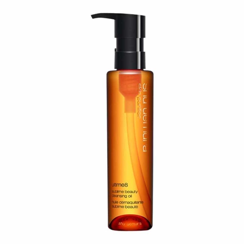 Shu Uemura - Ultime8 Sublime Beauty Cleansing Oil: Kết hợp từ 8 loại dầu quý hiếm, Ultime8 Sublime Beauty Cleansing Oil không chỉ làm sạch da và tẩy trang mà còn giúp mang lại làn da mềm mại, tươi trẻ. Giá: 1.250.000VND/150ml
