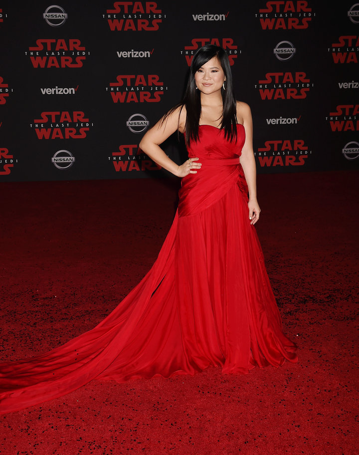 LOS ANGELES, CA - DECEMBER 09: Actress Kelly Marie Tran attends the premiere of Disney Pictures and Lucasfilm's 'Star Wars: The Last Jedi' at The Shrine Auditorium on December 9, 2017 in Los Angeles, California. (Photo by Jeffrey Mayer/WireImage)