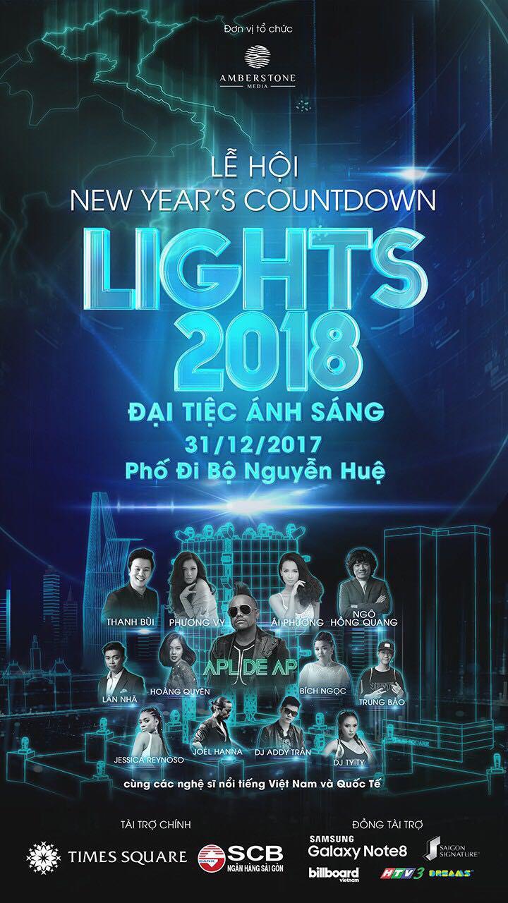 Thành viên Black Eyed Peas sẽ biểu diễn chào đón năm mới tại phố đi bộ Nguyễn Huệ