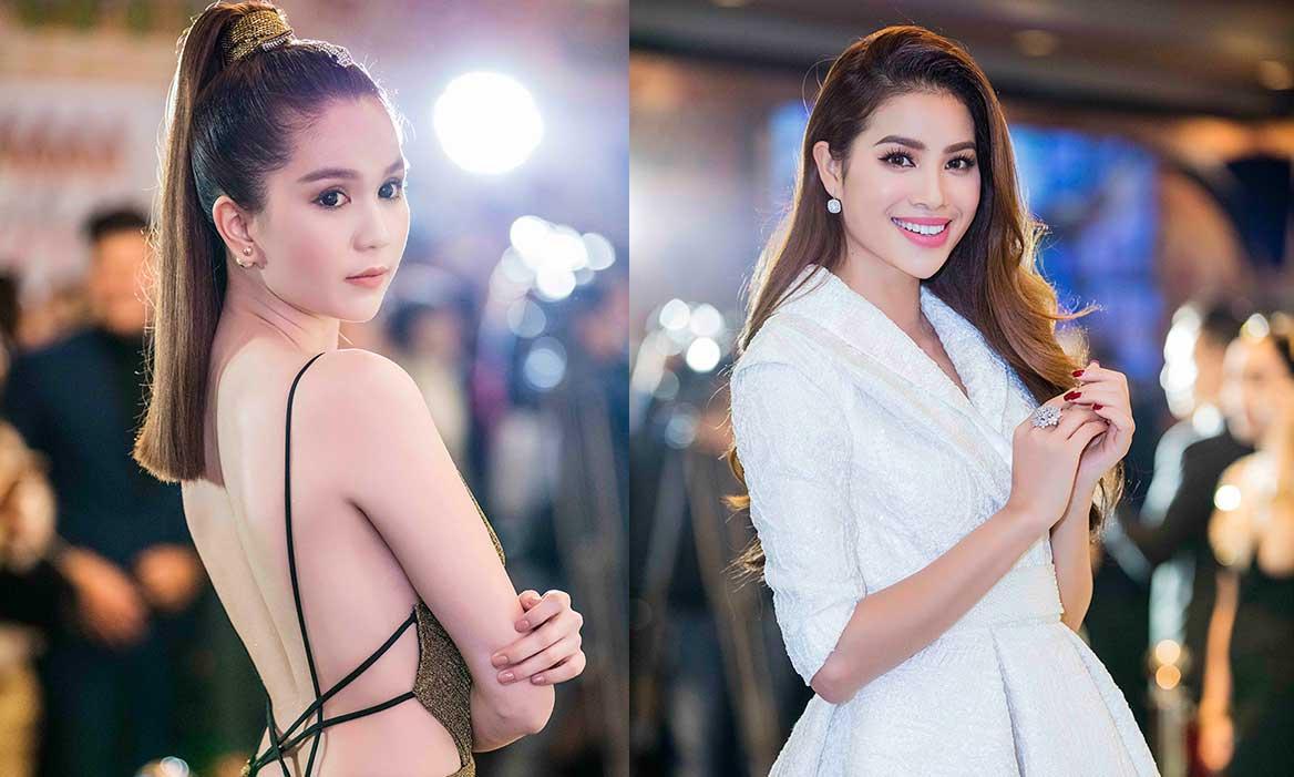 Phạm Hương kín đáo đọ sắc với vẻ sexy của Ngọc Trinh