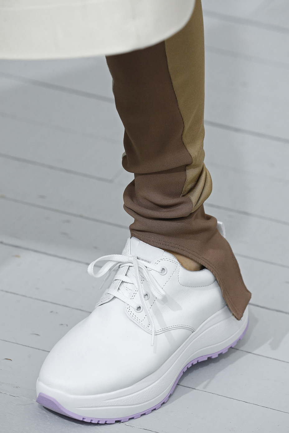Shoe Detail during the Celine show as part of the Paris Fashion Week Womenswear Spring/Summer 2018 on October 1, 2017 in Paris, France.