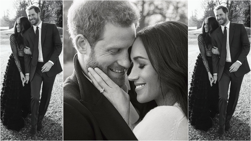 Ảnh đính hôn đẹp như mơ của Hoàng tử Harry và Meghan Markle