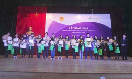 Cuộc thi Olympic Tiếng Anh Hà Nội vinh danh 425 cá nhân và 10 tập thể xuất sắc