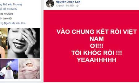 Sao Việt òa khóc vì chiến thắng thần thánh của U23 Việt Nam