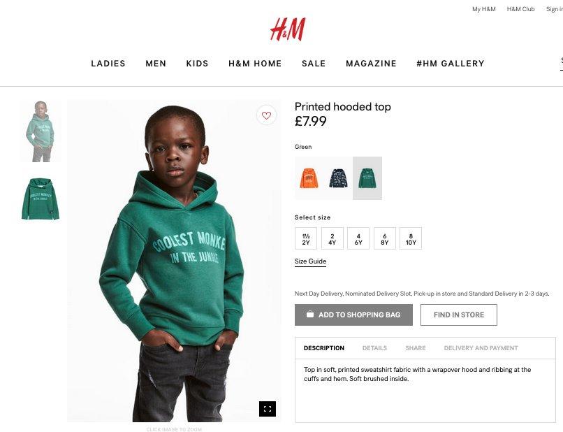 H&M công khai xin lỗi vì hình ảnh quảng cáo mang thông điệp phản cảm
