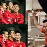 """Sắc đỏ ngập tràn Facebook, các nghệ sĩ đều """"sướng phát điên"""" với chiến thắng của U23 Việt Nam"""