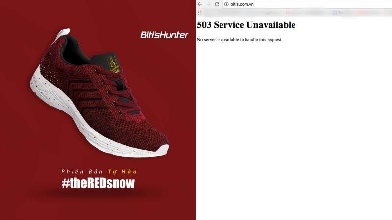 """""""Nín thở"""" đặt hàng giày Biti's Hunters phiên bản Tự hào, website của Biti's """"sập"""" liên tục"""