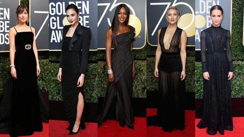 Mỹ nhân Hollywood chọn sắc đen mang thông điệp nữ quyền trên thảm đỏ Quả cầu Vàng 2018